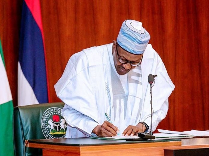 Buhari Signs Executive Order Money Laundering
