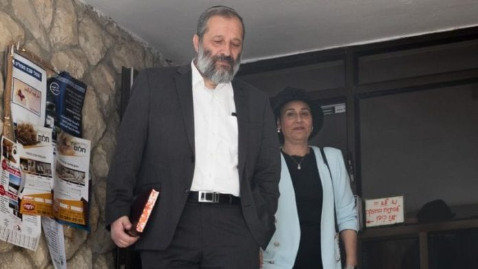Israel: Police Recommend Charging Minister Dery With Fraud, Tax Offenses and Money Laundering 2