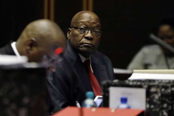 South Africa ex-president Jacob Zuma in court for corruption