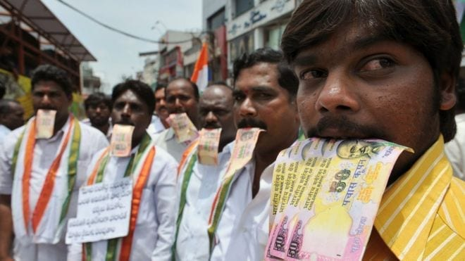 West Bengal protests: Politicians hounded to return bribe money