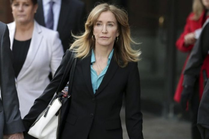 Actress Felicity Huffman complete full sentence for role in college admissions scam
