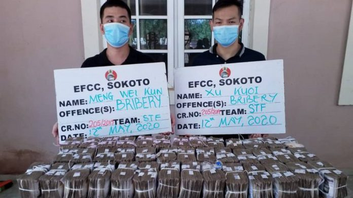 Nigeria: Two Chinese nationals arrested for offering $128,000 bribe to anti-graft officer 2