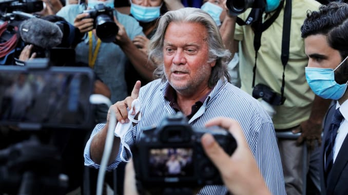 Steve Bannon fraud trial set for May 2021